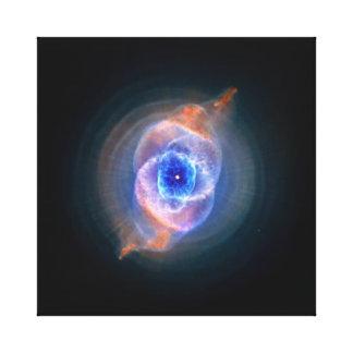 Nebulosa del ojo de gato lona estirada galerías