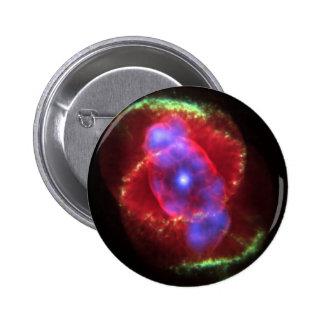Nebulosa del ojo de gato pin redondo de 2 pulgadas