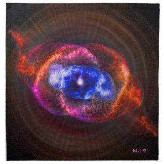 Nebulosa del ojo de gatos de las iniciales servilleta de papel