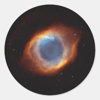 """Nebulosa del """"ojo"""" de la hélice pegatina redonda"""