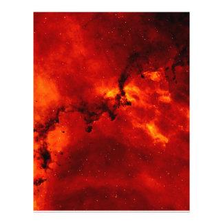 "Nebulosa del rosetón folleto 8.5"" x 11"""