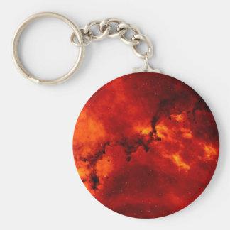 Nebulosa del rosetón llavero redondo tipo pin