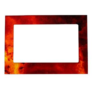 Nebulosa del rosetón marcos magneticos para fotos