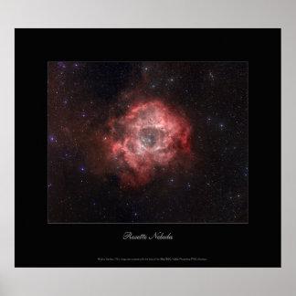 Nebulosa del rosetón póster