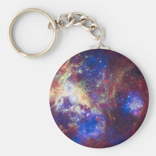 Nebulosa del Tarantula Llavero Redondo Tipo Pin