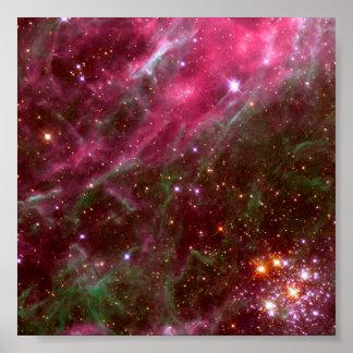Nebulosa del Tarantula (telescopio de Hubble) Póster