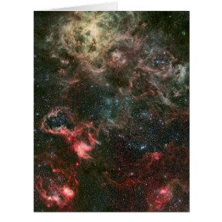 Nebulosa del Tarantula y sus alrededores Tarjeta De Felicitación Grande