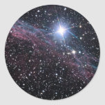 Nebulosa del velo etiqueta redonda