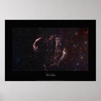 Nebulosa del velo póster