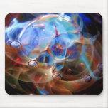 Nebulosa del vidrio de Lampwork de la correa de Or Alfombrilla De Ratones