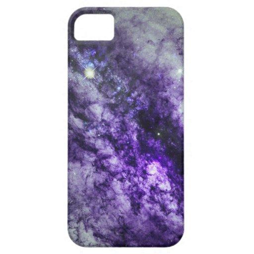 Nebulosa en caja púrpura del iPhone 5 iPhone 5 Protectores