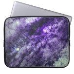 Nebulosa en manga púrpura del ordenador portátil fundas portátiles