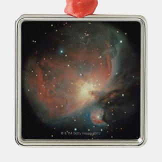 Nebulosa en Orión Adorno Navideño Cuadrado De Metal