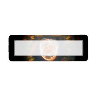 Nebulosa esquimal telescopio de Hubble Etiquetas De Remite
