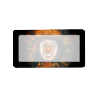 Nebulosa esquimal telescopio de Hubble Etiqueta De Dirección