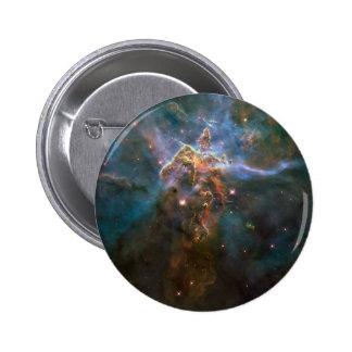Nebulosa estelar de Eagle de los chapiteles Pin Redondo De 2 Pulgadas