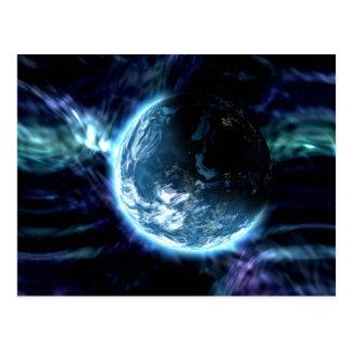 Nebulosa estrellada de la aurora del espacio tarjeta postal