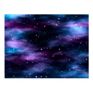 Nebulosa fantástica del espacio del viaje tarjeta postal