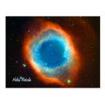Nebulosa, galaxias y estrellas de la hélice tarjeta postal