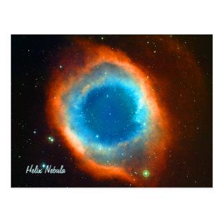 Nebulosa, galaxias y estrellas de la hélice postales