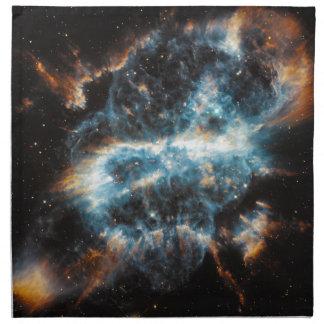 Nebulosa gaseosa brillante servilleta imprimida