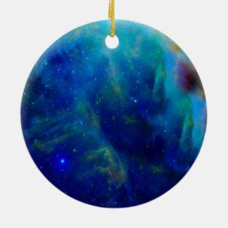 Nebulosa hermosa de Orión Adorno Navideño Redondo De Cerámica