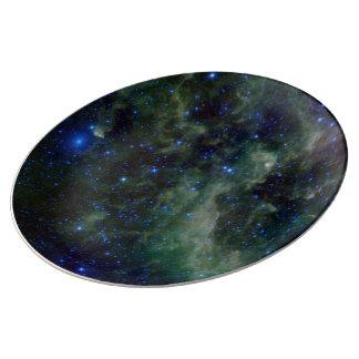 Nebulosa IC 1805 del corazón Platos De Cerámica
