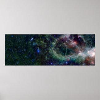Nebulosa IC 1805 del corazón Póster