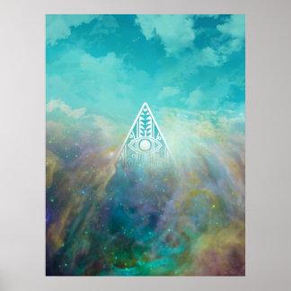 """Nebulosa impresionante de Orión del triángulo de """" Póster"""