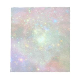 Nebulosa impresionista colorida de Orión Bloc De Notas