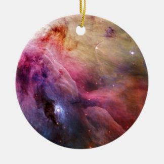 Nebulosa M42 de Orión Adorno Navideño Redondo De Cerámica