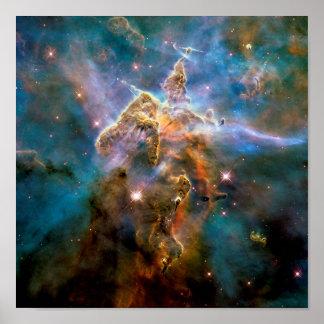 Nebulosa mística de Carina de la montaña Póster