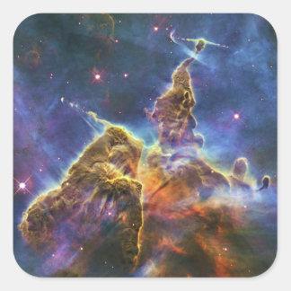 Nebulosa mística HH 901 HH 902 de Carina de la Calcomanía Cuadrada