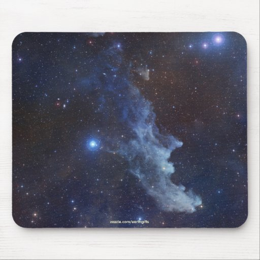 Nebulosa Mousepad de la cabeza de la bruja de la a Alfombrillas De Ratón