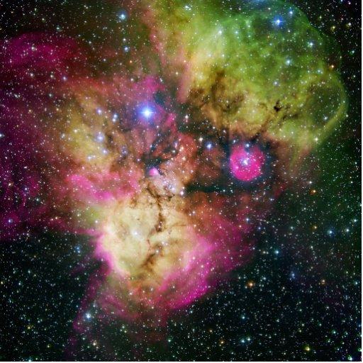 Nebulosa NGC 2467 del cúmulo de estrellas Esculturas Fotograficas