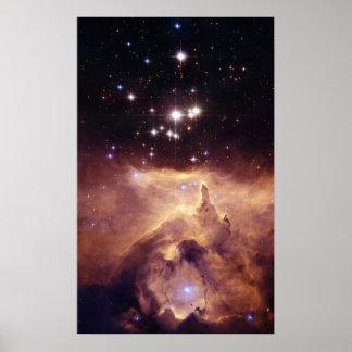 Nebulosa NGC 6357. de la emisión Póster