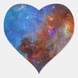 Nebulosa norteamericana pegatina en forma de corazón