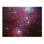 Nebulosa oscura hermosa, colorida postal