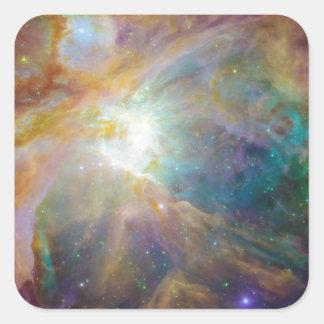 Nebulosa Pegatina Cuadrada