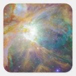 Nebulosa Pegatina Cuadradas Personalizadas