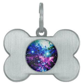 Nebulosa Placa De Nombre De Mascota