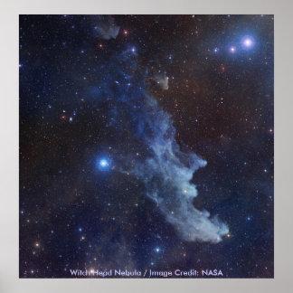 Nebulosa principal de la NASA/de la bruja Posters
