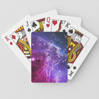 Nebulosa púrpura de la cabeza del mono de Ombre Cartas De Juego