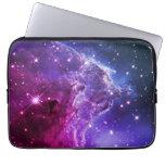 Nebulosa púrpura de la cabeza del mono de Ombre Mangas Portátiles