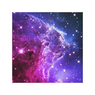 Nebulosa púrpura de la cabeza del mono de Ombre Lona Envuelta Para Galerías