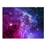 Nebulosa púrpura de la cabeza del mono de Ombre Postal