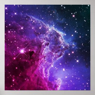 Nebulosa púrpura de la cabeza del mono de Ombre Póster