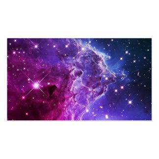 Nebulosa púrpura de la cabeza del mono de Ombre Tarjeta De Negocio