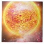 Nebulosa que quema brillantemente azulejo cuadrado grande