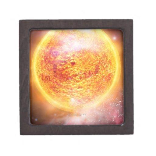 Nebulosa que quema brillantemente cajas de regalo de calidad